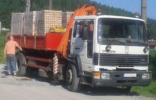 Doprava drevených brikiet