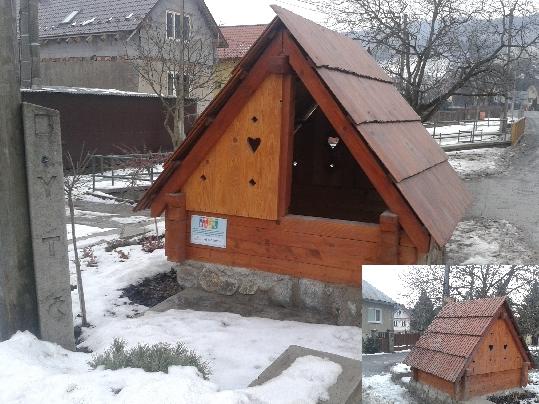 Drevená stavba - studňa