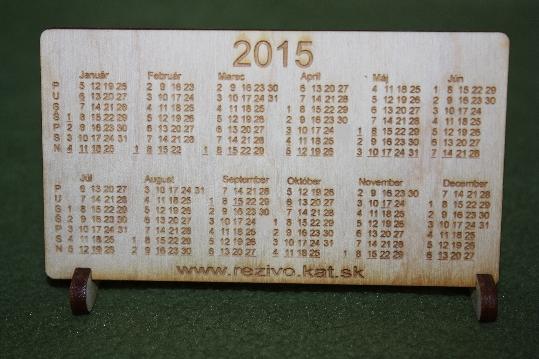 Kalendárik z dreva na rok 2015
