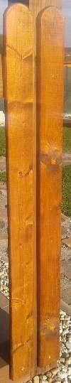 Opracovanie smrekovej dosky na plot