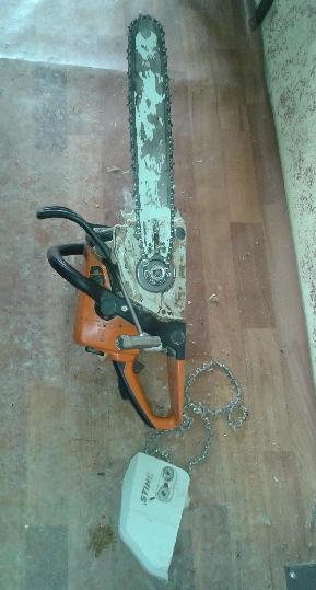 Rezanie dreva motorovou pílou