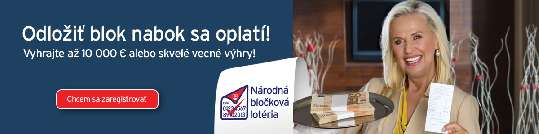 Vyhrávajte v bločkovej lotérií