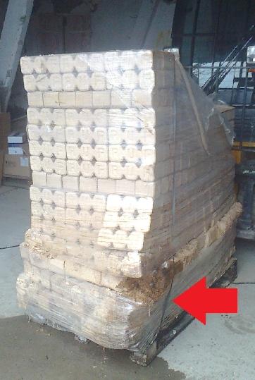 Zle uskladnené drevené brikety